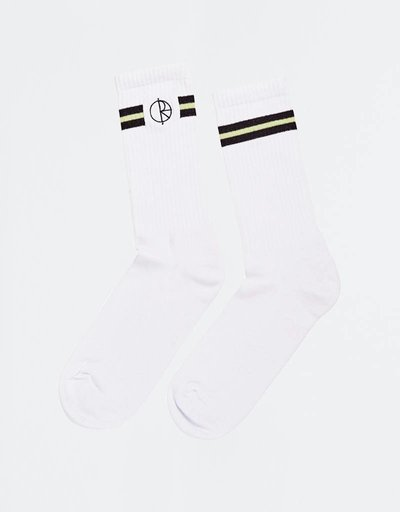 Polar Stroke Logo Socks White/ Black/Light Green