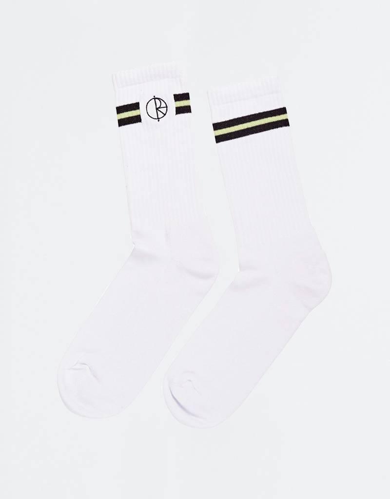 Polar Stroke Logo Socks White/ Black/Light Green
