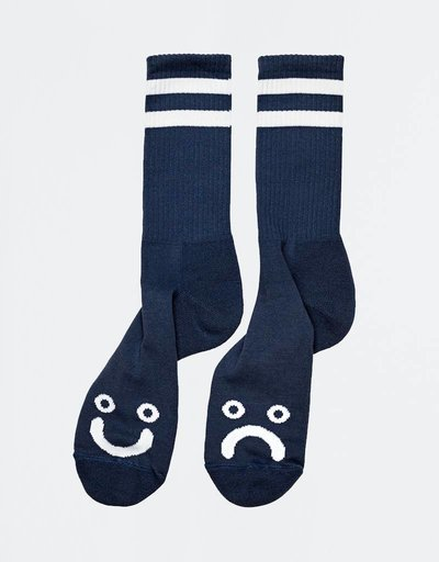 Polar Happy Sad Socks Navy