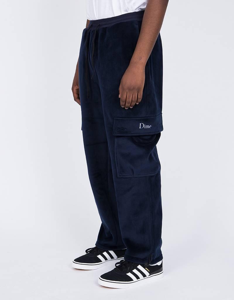 Dime Velour Cargo Pants Navy