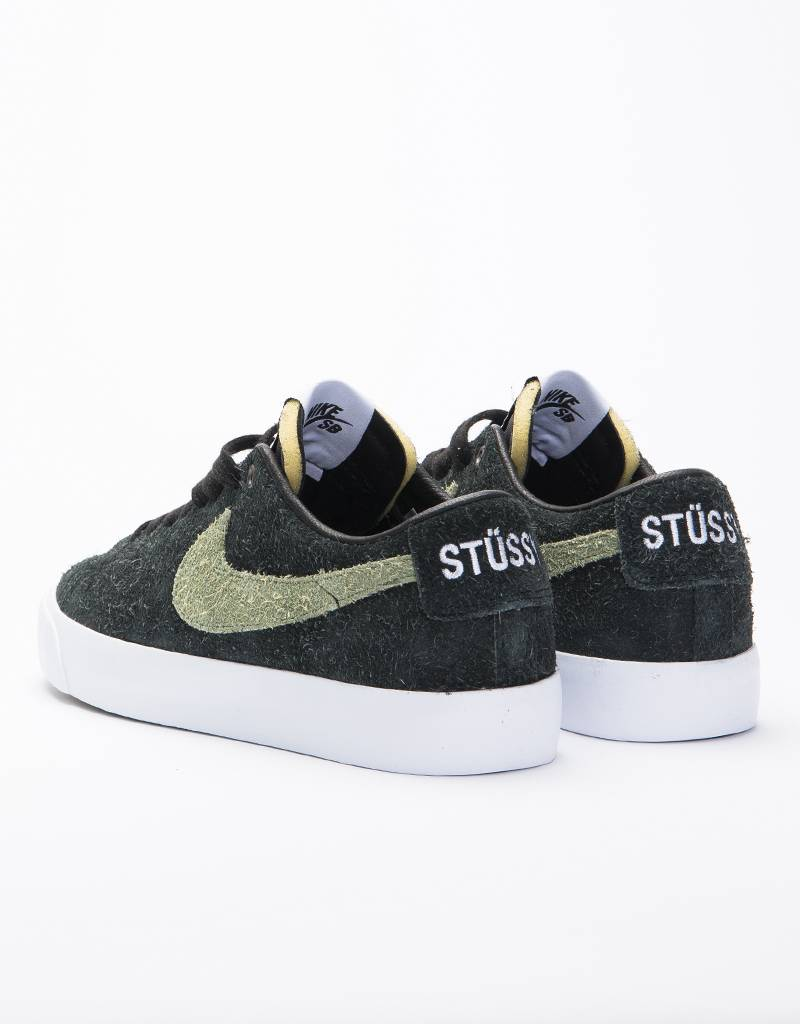 b5dc38779b2 Nike SB X Stussy Zoom Blazer Low QS Black Palm Green - Lockwood ...