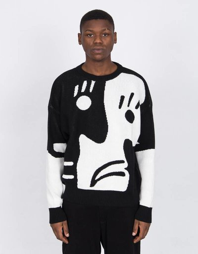 Polar Art Knit Crew Black/White