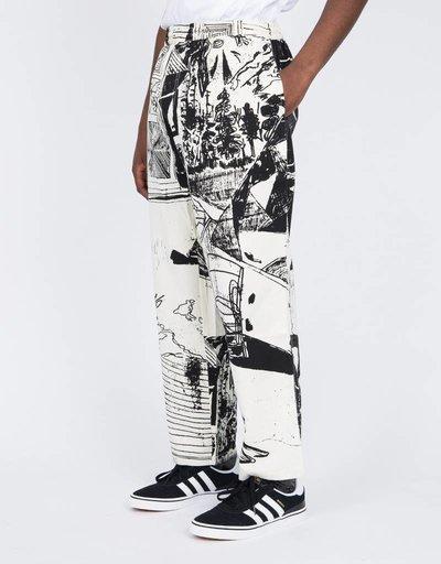 Polar TK Surf Pants Ecru/Black