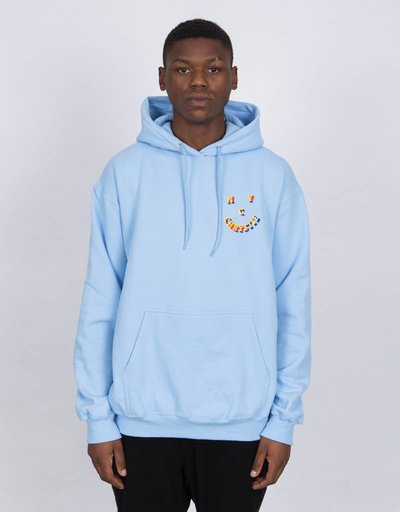 Chrystie 3D Smiley Hoodie Light Blue