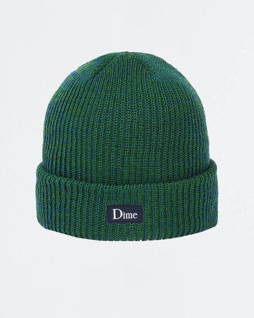 Dime Dime Classic Logo Marled Beanie Blue Green