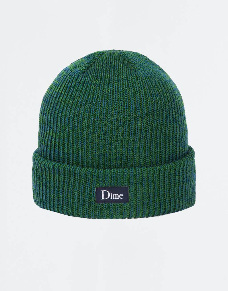 Dime Classic Logo Marled Beanie Blue Green