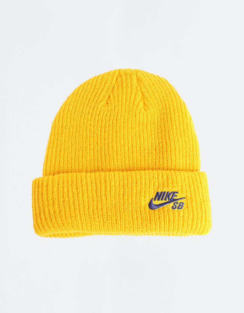 Nike Fisherman Beanie Yellow Ochre/Obsidian