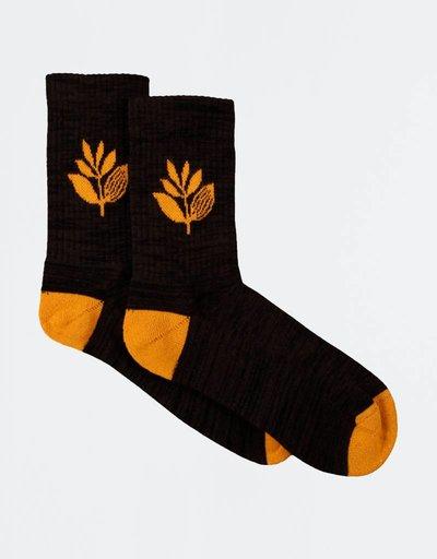 Magenta Socks Mid Black/Yellow