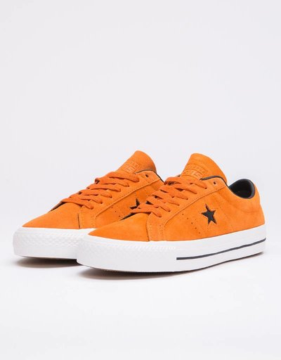 21f44a54572 Converse One Star Pro Ox Campfire Orange Black Pumpkin