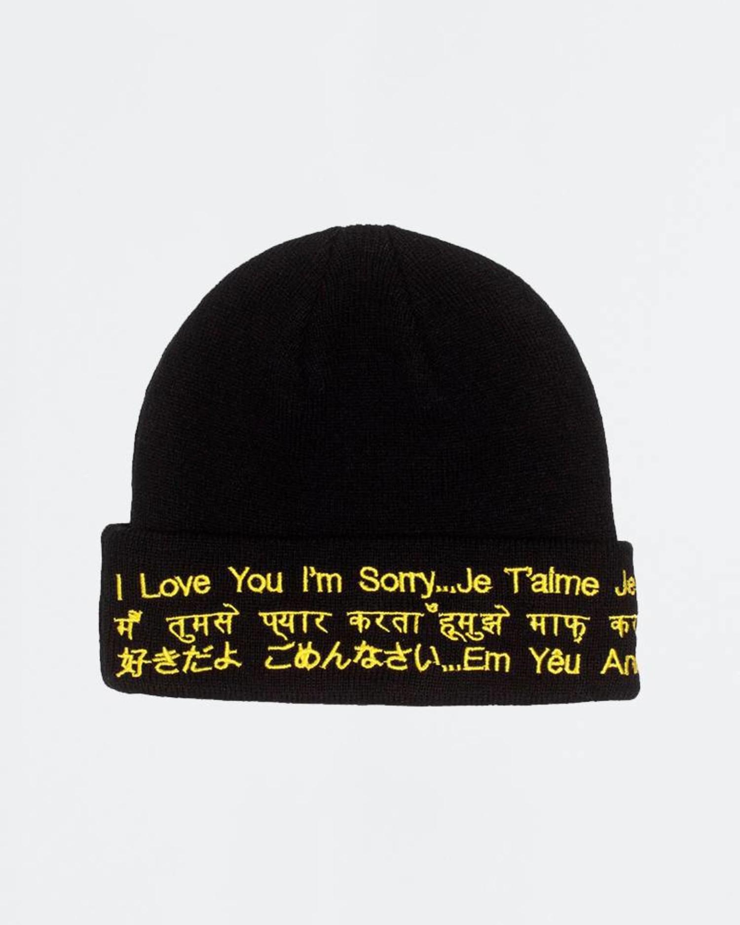 Fucking Awesome ILY Im Sorry Beanie Black/Yellow