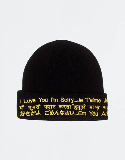 Fucking Awesome ILY Im Sorry Beanie Black/Yellow