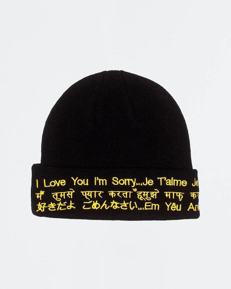 Fucking Awesome Fucking Awesome ILY Im Sorry Beanie Black/Yellow