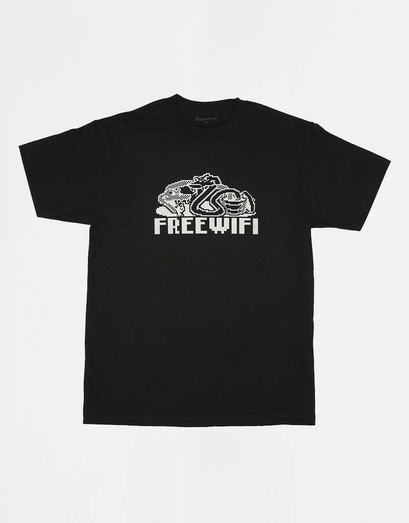 Free Wifi Snake T-shirt Black