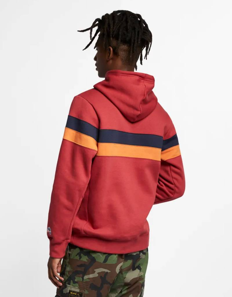 low priced a475d 18d3c ... Nike Sb Hoodie Icon Stripes Team crimson obsidian cinder orange