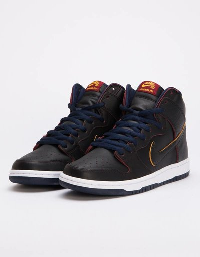 best sneakers 19454 8d085 Nike SB Dunk High Pro NBA BlackBlack-College Navy-Team Red