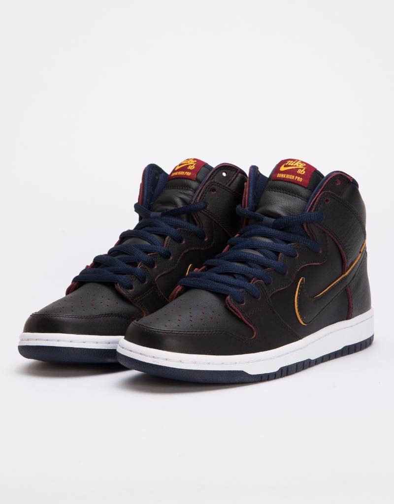 the latest 633ac 6d118 Nike SB Dunk High Pro NBA Black Black-College Navy-Team Red ...