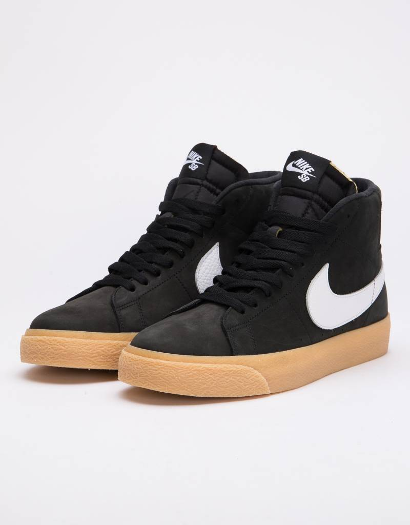326ce40667a9 Nike SB Blazer Mid Iso Black White-Safety Orange - Lockwood Skateshop