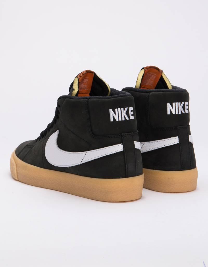 Nike SB Orange Label Blazer Mid Iso Black/White-Safety Orange