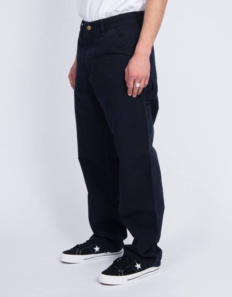 Carhartt Single Knee Pants Organic Cotton Dark Navy Rinsed