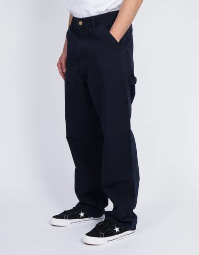 Carhartt Single Knee Pants Organic Cotton Dark Navy Rinsed