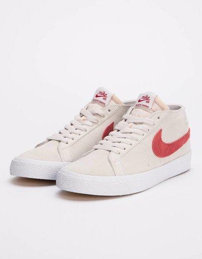 free shipping 75700 97027 Nike Sb zoom blazer Chukka vast grey team crimson