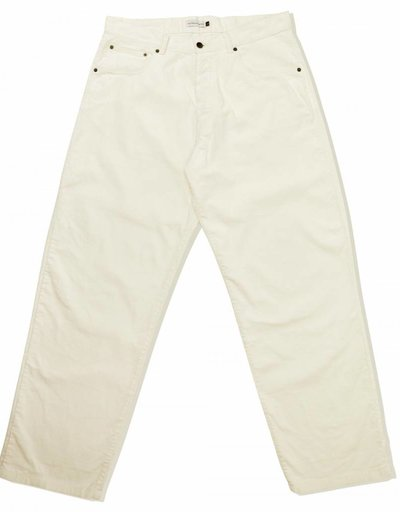 Pop Trading Co DRS Pants Cord Off White