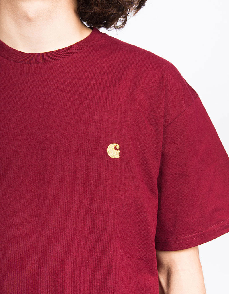Carhartt Chase T-Shirt Cranberry/Gold