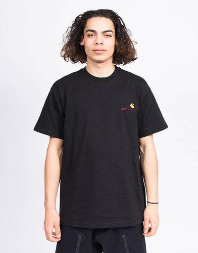 Carhartt S/S American Script T-Shirt Black