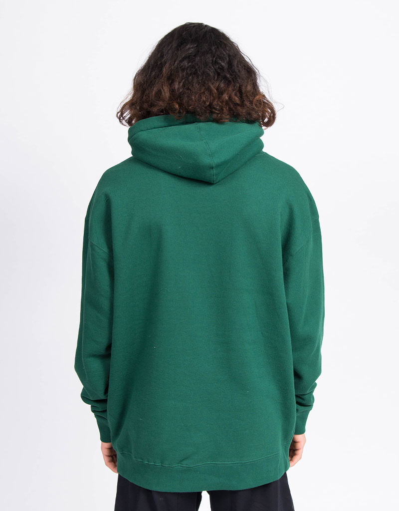Skateboard Cafe Tonal Embroidered Hoodie Green