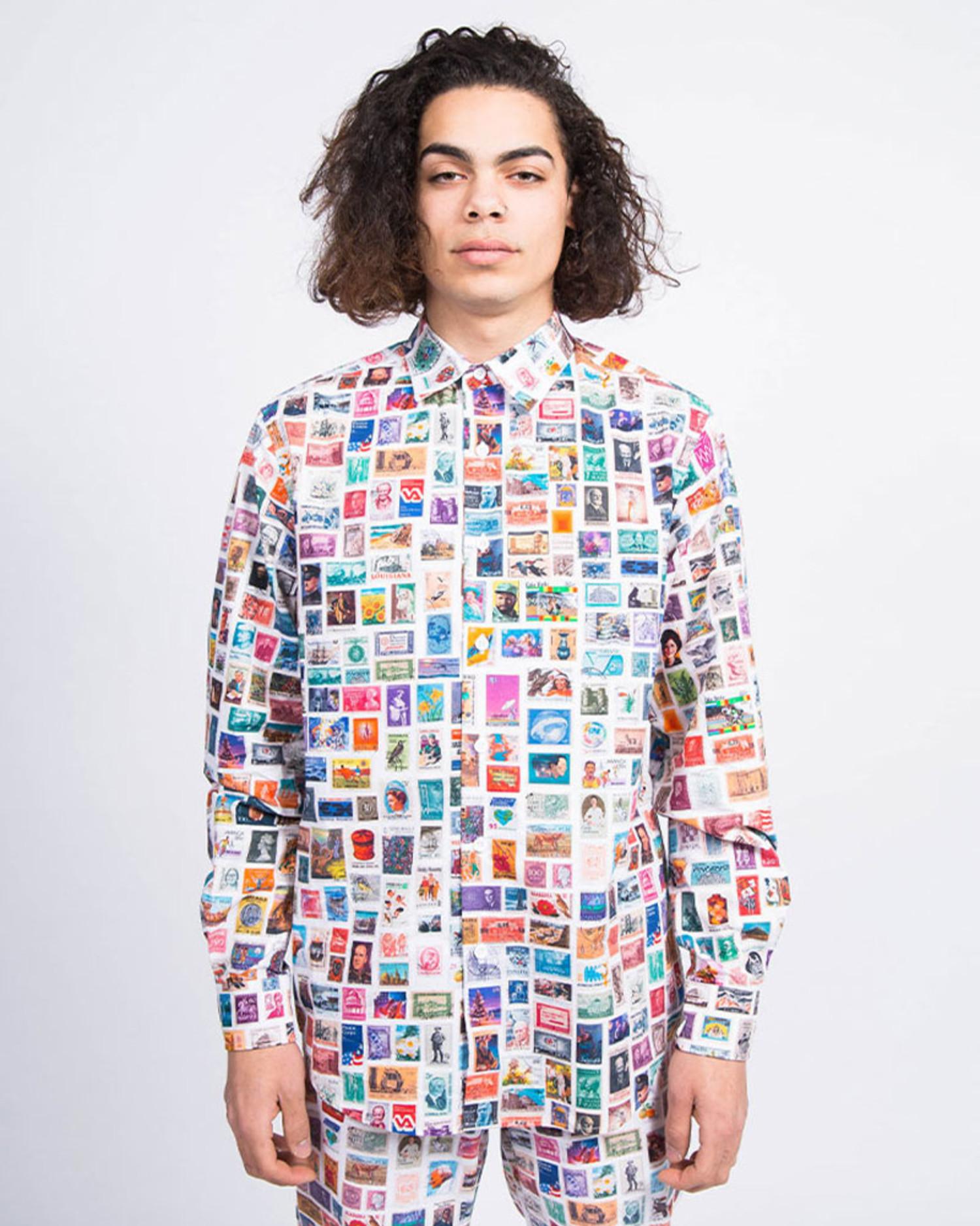 Fucking Awesome Stamps Dress Shirt White/Multi