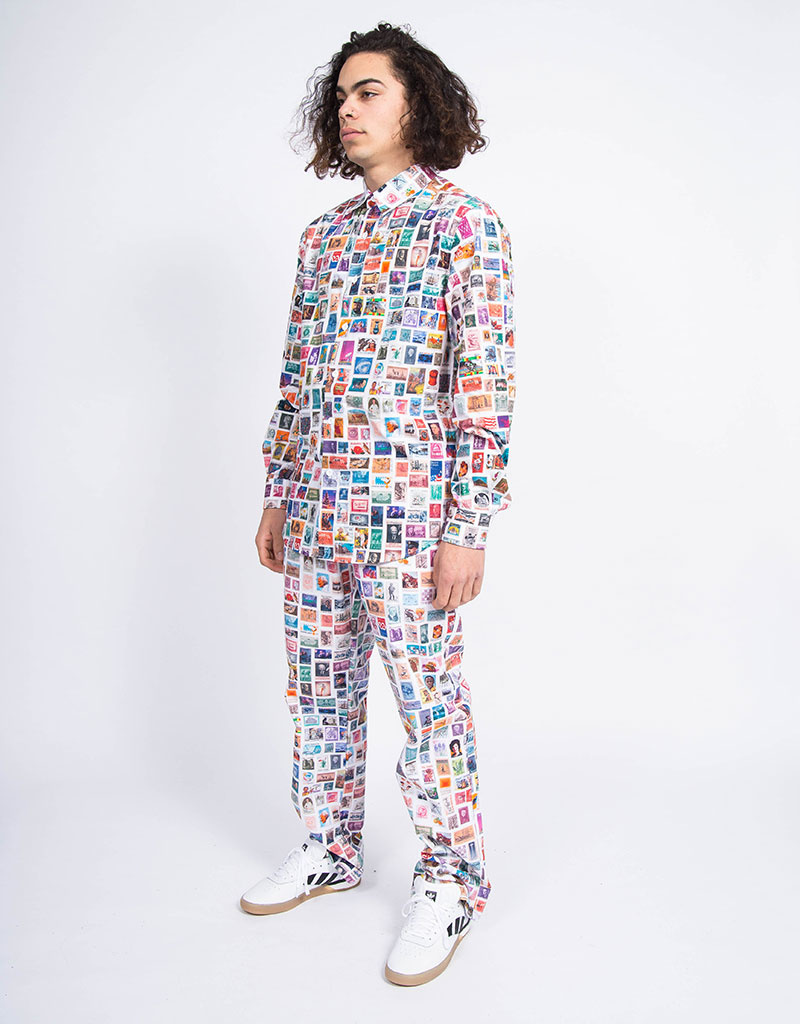 Fucking Awesome Stamps Dress Shirt White/Multi
