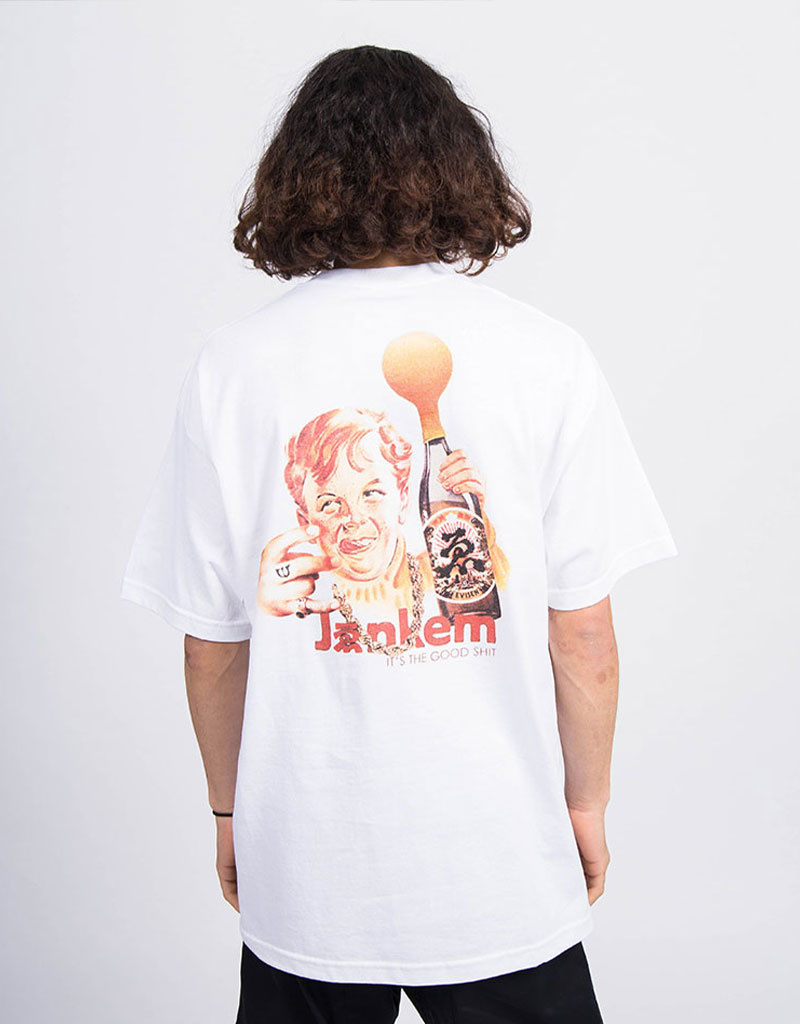 Evisen x Jenkem Sake Bottle Boy Tshirt White