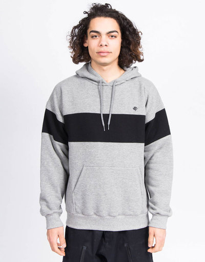 Magenta  Brode Hoodie Heather Grey