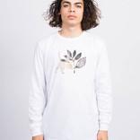 Magenta  Cat Longsleeve White