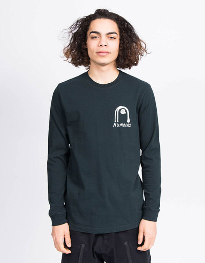 Numbers Collage Longsleeve Black