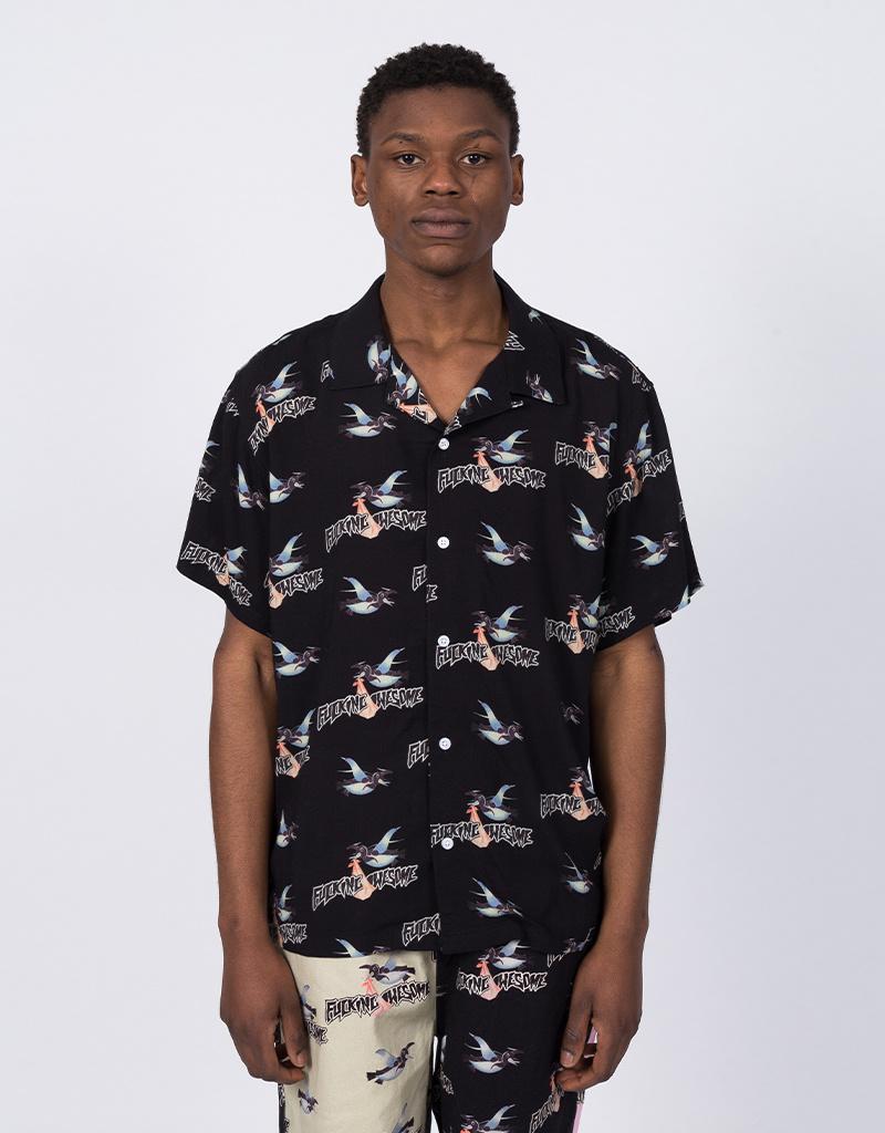 Fucking Awesome Bird Bag Club Shirt Black