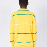 Fucking Awesome Striped Knit Rugby Yellow