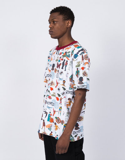 Fucking Awesome Social Studies Ringer T-Shirt White
