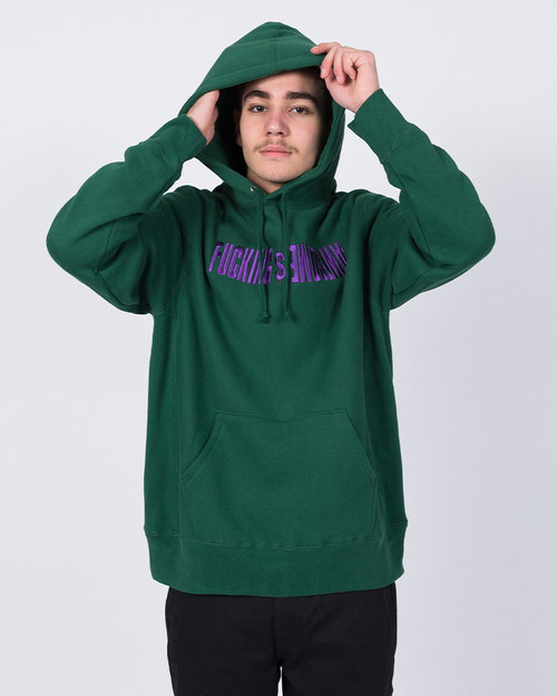 Fucking Awesome Fucking Awesome GDP Embroidered Hoodie Green