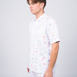 Post Details Disinformation Division Bowling Shirt White