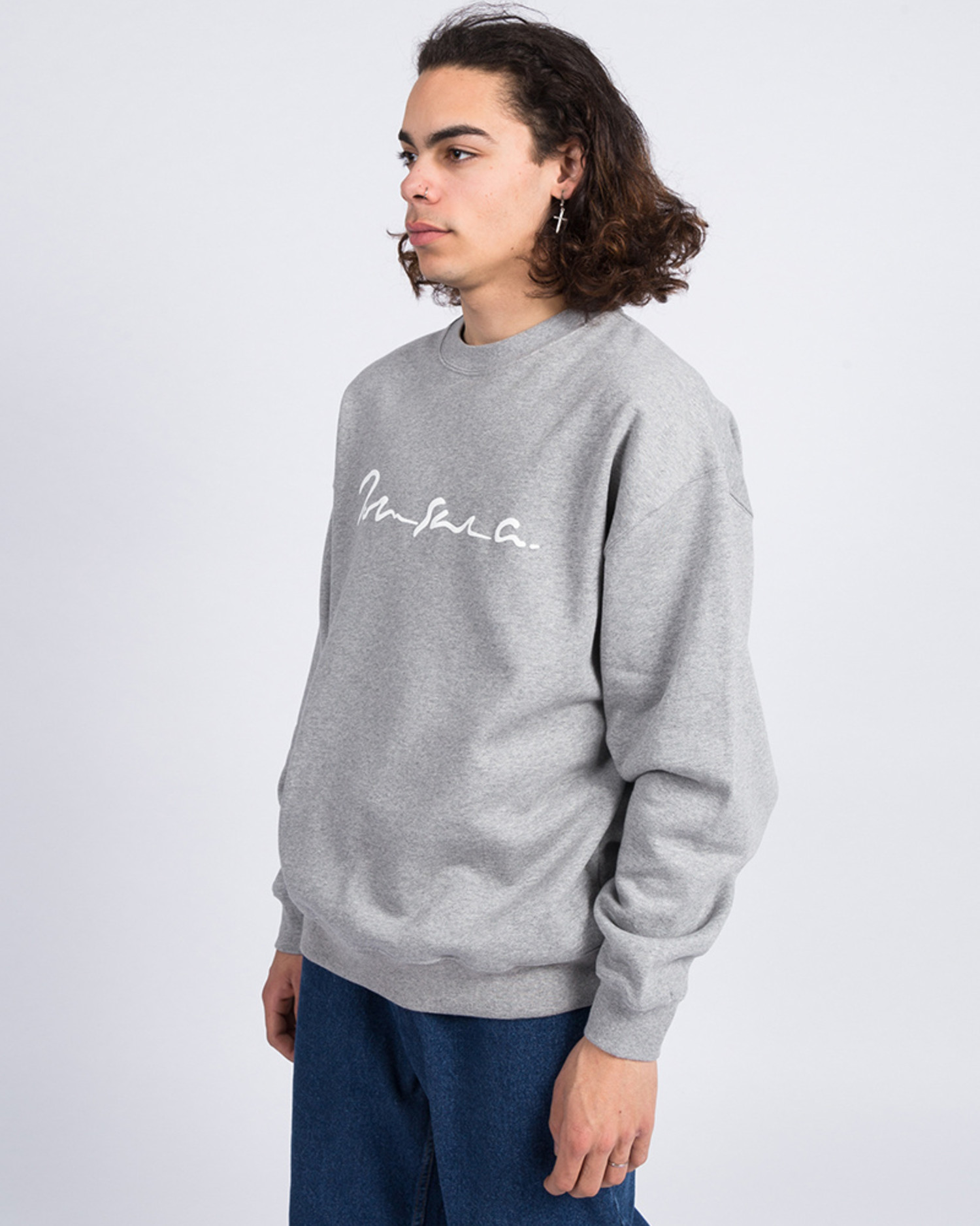Polar Signature Crewneck Heather Grey