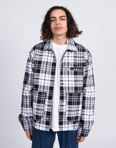 Polar Plaid Work Jacket Grey