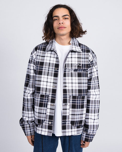 Polar Polar Plaid Work Jacket Grey