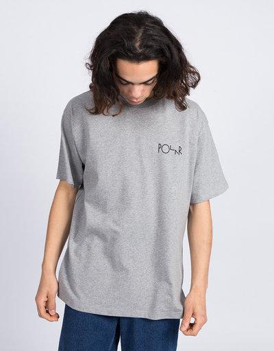 Polar Fill Logo T-Shirt Heather Grey/Black