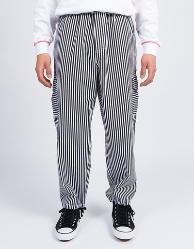 Polar Striped Cargo Pants White/Black