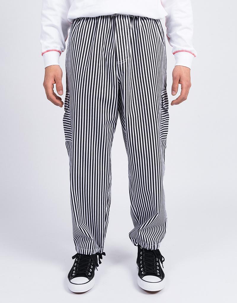 Polar Striped Cargo Pants White/Black