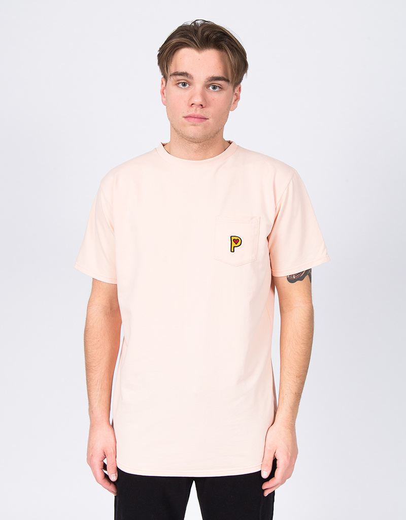 Post Details Pop P Pocket French Terry T-Shirt Overdyed Peach