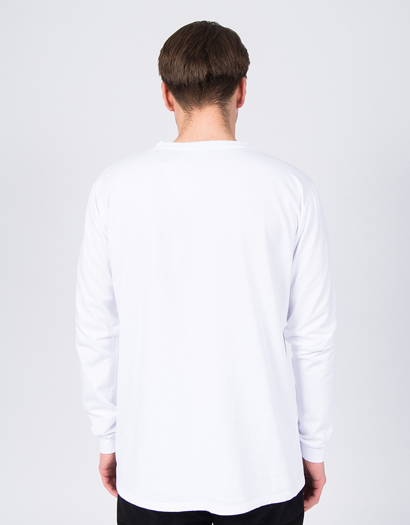 Post Details Pop Hydrant French Terry Longsleeve White
