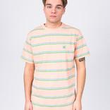 Post Details Striped T-Shirt Peach/Blue/Green