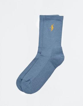 Polar Polar No Comply Socks Slate Blue/Yellow